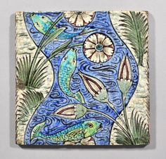 William De Morgan tile - Fish in River by robmcrorie,