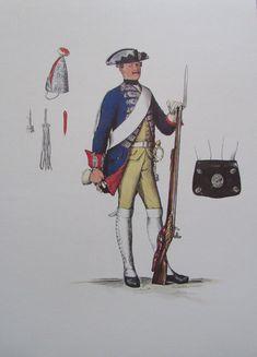 Grenadier Königs I. Bataillon Leibgarde Menzel - 24x34 Faksimile 70er Uniform