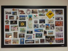 Fun way to display magnet collection using magnet board
