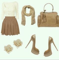 Cute Beige Outfit