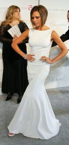 Victoria Beckham in white