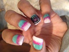 Blink 182 nail art #ombrenails