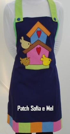 Casas de pájaros Work Aprons, Cute Aprons, Sewing Projects For Kids, Sewing Crafts, Apron Designs, Sewing Aprons, Creation Couture, Aprons Vintage, Kitchen Aprons