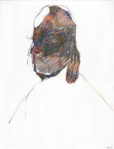 Nicola Tyson - Untitled (sketch book page) #33, 2005