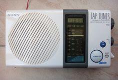 Vintage Sony Tap Tunes Shower Am FM Clock Radio ICF S77W Fully Tested Works | eBay