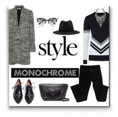 """Monochrome"" by alexandra-barbu-1 ❤ liked on Polyvore featuring Topshop, Fendi, Jeffrey Campbell, Cheap Monday, STELLA McCARTNEY, Mercedes-Benz, Botkier and Azalea"