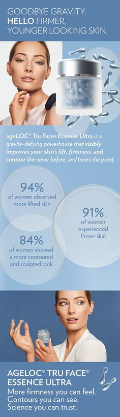Clinical Results All Natural Skin Care, Anti Aging Skin Care, Younger Looking Skin, Skin Firming, Smooth Skin, Things That Bounce, Nu Skin, Face Beauty, Key