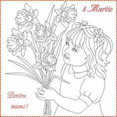 Nicole's Free Coloring Pages: 8 Martie * Coloring Spring Greeting Cards Wedding Coloring Pages, Spring Coloring Pages, Free Coloring, Adult Coloring, Coloring Books, Color By Number Printable, 8 Martie, Baby Animals Super Cute, Beautiful Flower Arrangements