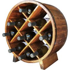 Barrel-Inspired Wine Rack
