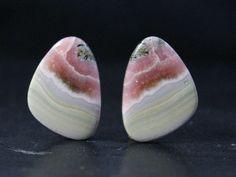 1Pair 32Cts. 100% Natural Quality Rhodochrosite 23x16mm Fancy Shape Cabochon Cab Jewelry Making Handmade Genuine Dendrite opal Gemstone by zakariyagems on Etsy