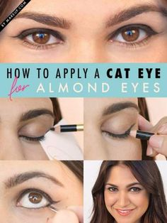 1593e238537 Painting Cat Eyes Makeup Tutorials 69 Ideas #painting #makeup Eyeliner For  Almond Shaped Eyes