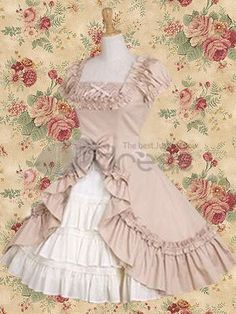Lolita Dresses / Classic Short Sleeves Ruffles Cotton Lolita Dress / http://www.thdress.com/Classic-Short-Sleeves-Ruffles-Cotton-Lolita-Dress-p1313.html