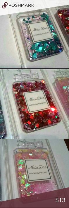 Miss Dior Glitter Perfume Case for iPhone Adorable Miss Dior Blooming Bouquet 3D Perfume Case for iPhone 6/6s & 6/6s Plus -Waterfall Glitter Hearts  Available in 3 Colors :  1.Red 2.Blue/Purple 3.Pink For iPhone 6/6s Plus (Limited stock) 1.Red 2.Blue/Pink 3. Pink  (I also have the same style case with rhinestones and lanyard for $4 more)  High Quality Material   Brand New    After purchase send me a message with the phone style and color that you need :)  Ships off same or next day!  Price…