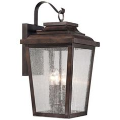 over head Outdoor Garage Lights Bronze | Chelsea bronze finish. Clear seedy glass. Aluminum construction. Takes ...
