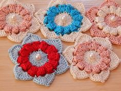 Crochet motif tutorial VERY EASY Crochet motifs for beginners - YouTube