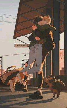 Vkook Fanart, Cartoon Kunst, Cartoon Art, Art And Illustration, Pretty Art, Cute Art, Aesthetic Art, Aesthetic Anime, Fan Art