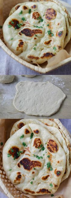Naan – the easiest homemade Indian naan recipe that you can make on skillet. Fluff and soft naan that tastes like Indian restaurants | http://rasamalaysia.com