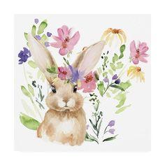 Trademark Fine Art 'Watercolor Spring Garden II' Canvas Art by Jennifer Paxton Parker, Size: 35 x Green Artist Canvas, Canvas Art, Canvas Prints, Ostern Wallpaper, Lapin Art, Bunny Painting, Painting Art, Bunny Art, Spring Garden
