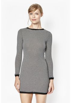 Starzy Stripe Long Sleeve Dress