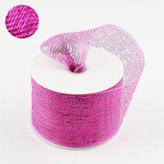 4 inch x 25 yards Fuchsia Deco Mesh Ribbon Deco Mesh Ribbon, Ribbon Wrap, Fabric Ribbon, Deco Mesh Wreaths, Ribbon Decorations, Wedding Decorations, Deco Mesh Crafts, Wholesale Ribbon, Mesh Wreath Tutorial