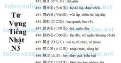 Từ vựng N3 sách mimi kara oboeru 81 - Tự học tiếng Nhật online