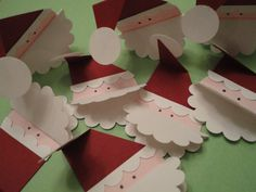 Christmas Gift Tags  Santa set of 8 by CardsbyDeanna on Etsy