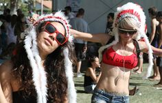 """Don't Look Ignorant ......... One Music Festival Takes a Stand Against Hipster Headdresses .... """"We understand why people are attracted to war bonnets. They have a magnificent aesthetic. But their spiritual, cultural and aesthetic significance cannot be separated."""" ..... Read more at http://indiancountrytodaymedianetwork.com/2014/07/26/one-music-festival-takes-stand-against-hipster-headdresses-156071"""