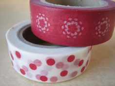 Washi Tape  Double Roll  Red with Circle Design by HazalsBazaar, $5.00