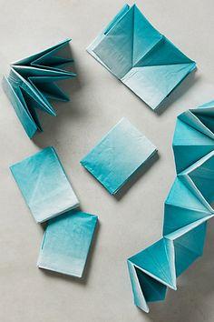 origami ombre napkins
