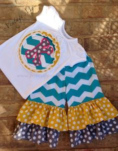 Girls Outfut 5y8y by PorcupineHollow on Etsy, $46.00