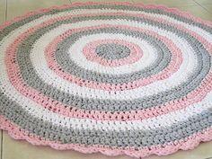 Attractive Crochet Rug , Girl Nursery Rug , Round Rug , Crochet Rugs , Doily Rug ,