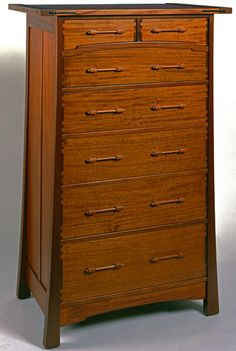"Fremont Chest of Drawers | Darrell Peart Furniture Maker | Mahogany/ebony | 60"" x 37"" x 26"