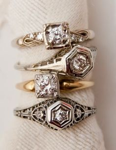 I love estate jewelry. I feel like you get as much use out of the resources for what it took to mine them.