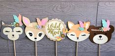 Woodland Animal Decorations Wild One Birthday Woodland Third Birthday Girl, Wild One Birthday Party, Simple Baby Shower, Baby Boy Shower, Woodland Party, Woodland Decor, Woodland Christmas, First Birthdays, Animal Decor