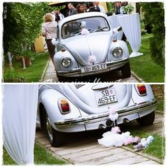beetle wolksvagen, charleston, diy, flapper, great gatsby, lace, lace flowers, pearls, roaring 20's, rustic wedding, shabby chic wedding, vintage wedding, wedding decor, wedding diy