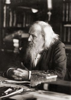 Dimitri Mendeleev published the first widely accepted periodic table of chemical elements in 1869.