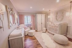 ideas for baby girl nursery room ideas lilac pink Baby Bedroom, Baby Room Decor, Kids Bedroom, Nursery Decor, Baby Rooms, Nursery Ideas, Baby Bedding, Project Nursery, Nursery Themes