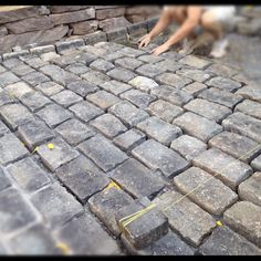 Last Friday, Dave & I took the day off and got to work laying our cobblestone driveway.  The fact that we are delusional enough to do this ...