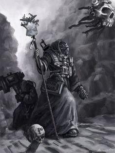 imperium inquisition monochrome noldofinve(artemis) pistol retinue servo-skull warhammer