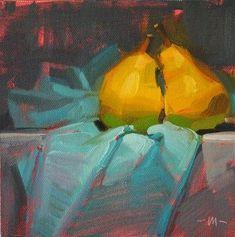 """Pear Passion - SOLD"" - Original Fine Art for Sale - © Carol Marine"