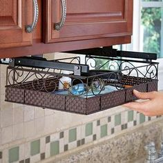 Bronze Add-a-Drawer @ Fresh Finds    I'm thinking this would be a good place to store daily mail and get it off the counter.