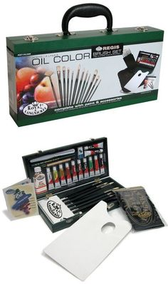 Other Tole Painting Supplies 1364: Oil Color Artist Painting Box Complete Set Flip Up Wooden Storage Organizer Box -> BUY IT NOW ONLY: $33.37 on eBay!