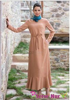 Kuaybe Gider tesettür vizon elbise