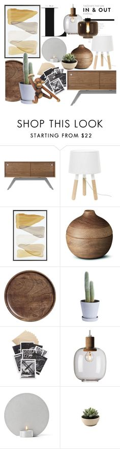 """Earthy colors"" by sofiehoff ❤ liked on Polyvore featuring interior, interiors, interior design, dom, home decor, interior decorating, Eastvold Furniture, Georg Jensen, H&M i HAY"
