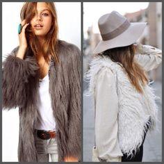chaquetas y chalecos de pelo
