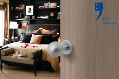 Impression of the GPF Door Knob (GPF9954) combined with a GPF1100.00 rose. This combination and many other door & window products are available at our website (www.tenhulscher.nl)