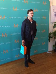 @sara_editor: Hanging out with @Moroccanoil at Variety's #TIFF16 studio and I'm literally 3ft from Finnick (Sam Claflin)
