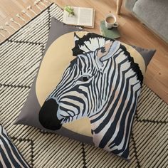 Zebra moon pillow Moon Pillow, Animal Print Rug, Pillows, Rugs, House, Ideas, Home Decor, Farmhouse Rugs, Decoration Home