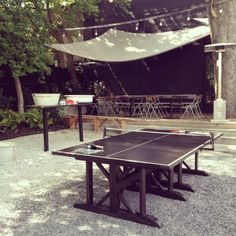 Ping Pong on the back patio at 246- downtown Decatur