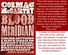 """An epic novel of the violence and depravity that attended America's westward expansion, Blood Meridian brilliantly subverts the conventions of the Western novel and the mythology of the """"wild west."""" History and Memory related texts HSC #historymemoryhsc"""